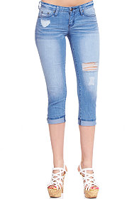 2b Melissa Denim Crop