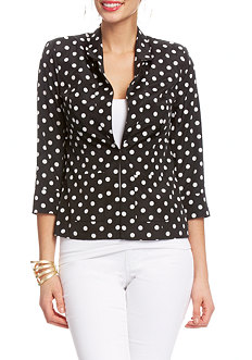 2b Polka Dot Patch Pocket Jacket