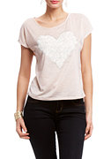 2b Lace Heart Top