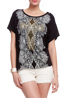 2b Stud Dolman Printed Top