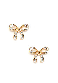 2b Tiny Bow Stud Earring