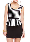 2b Striped Peplum Dress