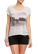 2b Bicycle Hearts Short Sleeve Tee