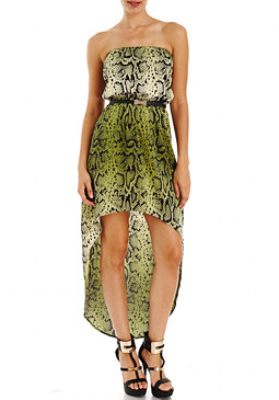 2b Snake Charmer High Low Maxi Dress