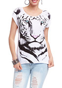 White Tiger High Low Tee at 2b