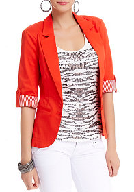 2b 3/4 Striped Sleeve Blazer
