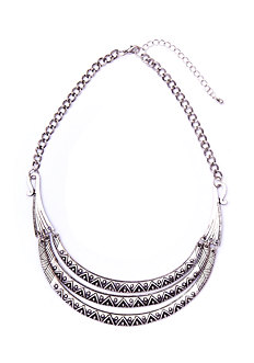 2b Tribal Plaque Collar Necklace