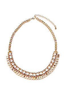 2b Rhinestone Short Linked Necklace