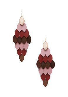 2b Tonal Leaves Kite Earring