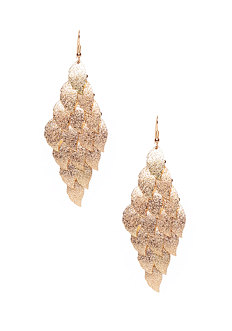 2b Diamond Dusted Leaves Earring