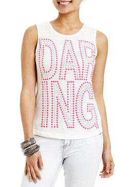 2b Daring Stud Graphic Top