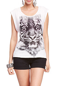 2b Tiger Face Screen Tee
