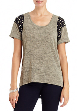 2b Emily Heather Stud Shoulder Tunic