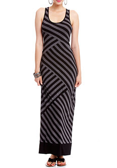 2b Wide Stripe Tank Maxi Dress