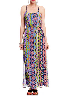 2b Tribal Printed Maxi Dress