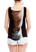 2b Ombre Fringe Back Tank Top
