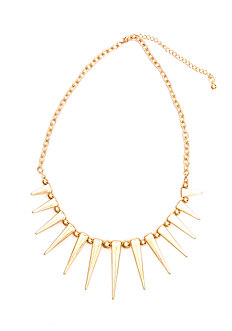 2b Spikes & Balls Short Necklace