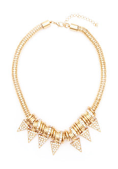 2b Fab Spike Short Statement Necklace