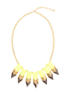2b Spike Arrows Statement Necklace