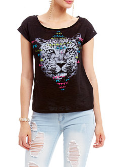 2b Tiger Tribal Burnout Tee