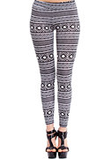 2b Black & White Tribal Legging