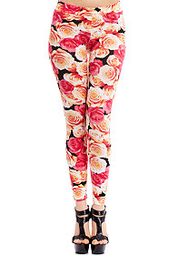 2b Rose Print Legging