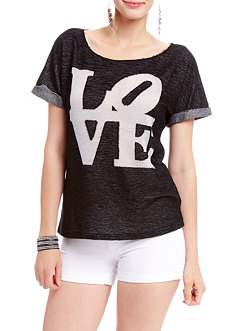 2b 2 Tone Love Burnout Top