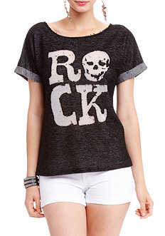 2b 2 Tone Rock Burnout Top