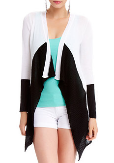 2b Colorblock Drapey Cover Up