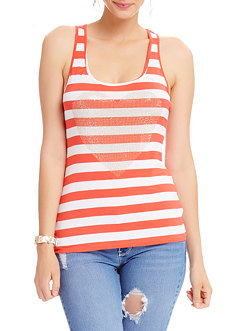 2b Ombre Stud Icon Stripe Tank Top