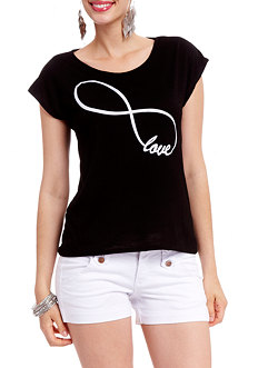 2b Infinity Love Graphic Top