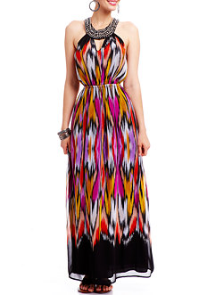2b Painted Sunrise High Low Maxi Dress