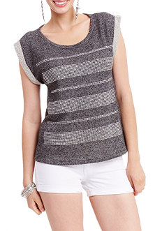 2b Sleeveless Muscle Roll Slash Sweatshirt