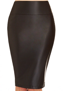 2b Faux Leather Midi Skirt