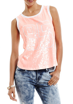 2b Sequin Front 85 Muscle Tee