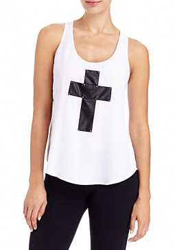 2b Amber Cross Detail Tank Top