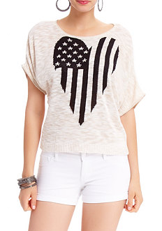 2b Stars and Stripe Heart Dolman