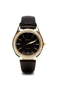 2b Jasmine Rhinestone Face Watch