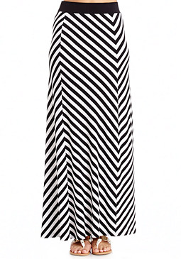 2b Chevron Stripe Maxi Skirt