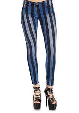 2b Denim Stripe Skinny Jean