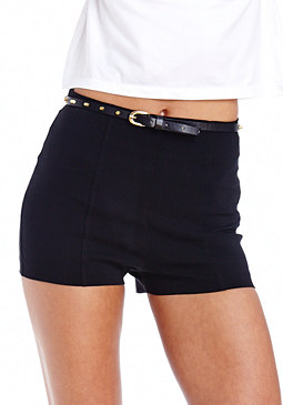 2b Stud Belt High Waist Mill Short