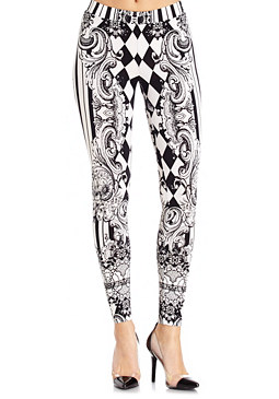2b Monochrome Scroll Legging
