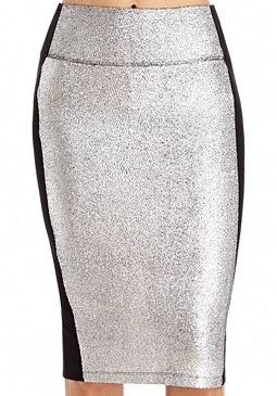 2b Crackle Foil Jersey Skirt