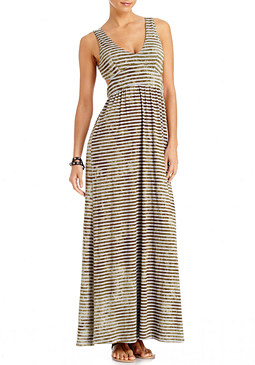 2b Sheila Stripe Cut-out Maxi Dress