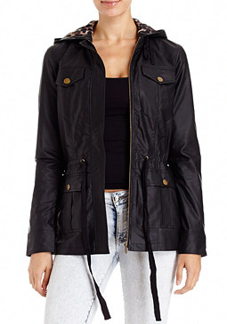 2b Leatherette Anorak Coat
