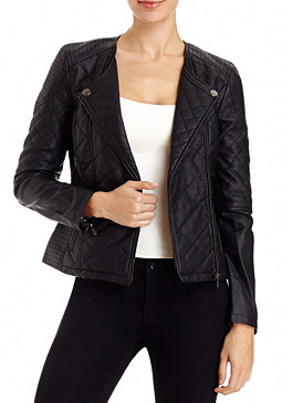 2b Quilted Leatherette Jacket