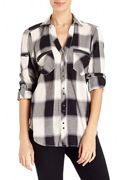 2b Katy Plaid Tie-Up Shirt