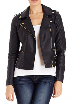 2b Faux Leather Buckle Jacket
