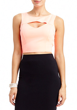 2b Keyhole Front Basic Crop Top