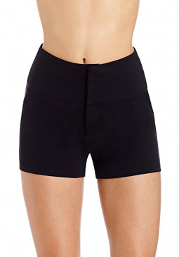 2b Lucy Lace Up Ponte Shorts